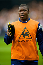 LONDON, ENGLAND - Sunday, September 13, 2009: Everton's substitute Ayegbeni Yakubu before the Premiership match against Fulham at Craven Cottage. (Photo by David Rawcliffe/Propaganda)