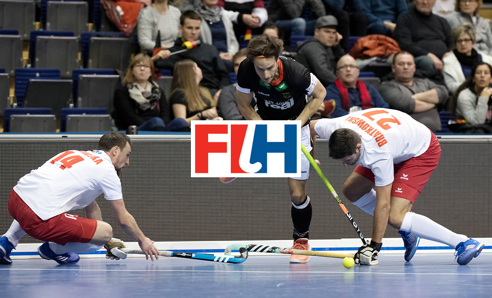 BERLIN - Indoor Hockey World Cup<br /> Men: Poland - Germany<br /> foto: Marco Miltkau.<br /> WORLDSPORTPICS COPYRIGHT FRANK UIJLENBROEK