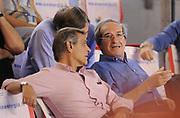 DESCRIZIONE : Roma Lega A 2014-15 <br /> Acea Virtus Roma - Acqua Vitasnella Cantu<br /> GIOCATORE : Claudio Toti Sergio D'Antoni <br /> CATEGORIA : pre game vip presidente<br /> SQUADRA : Acea Virtus Roma<br /> EVENTO : Campionato Lega A 2014-2015 <br /> GARA : Acea Virtus Roma - Acqua Vitasnella Cantu<br /> DATA : 10/05/2015<br /> SPORT : Pallacanestro <br /> AUTORE : Agenzia Ciamillo-Castoria/N. Dalla Mura<br /> Galleria : Lega Basket A 2014-2015  <br /> Fotonotizia : Roma Lega A 2014-15 Acea Virtus Roma - Acqua Vitasnella Cantu