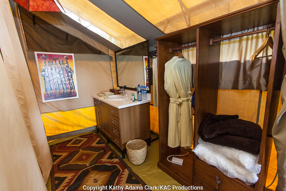 Lion's Paw Lodge, operated by Unique Safaris, luxury tent camp, Ngorongoro creater, Ngorongoro Conservation Area, Tanzania, Africa.