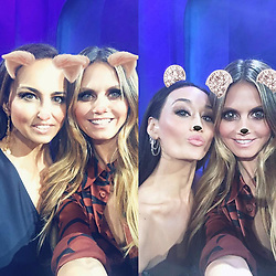 "Heidi Klum releases a photo on Instagram with the following caption: ""Double the guest judges, double the fun! Loved having @AnneFulenwider and @MaggieQ guest judge tonight\u2019s @ProjectRunway episode!"". Photo Credit: Instagram *** No USA Distribution *** For Editorial Use Only *** Not to be Published in Books or Photo Books ***  Please note: Fees charged by the agency are for the agency's services only, and do not, nor are they intended to, convey to the user any ownership of Copyright or License in the material. The agency does not claim any ownership including but not limited to Copyright or License in the attached material. By publishing this material you expressly agree to indemnify and to hold the agency and its directors, shareholders and employees harmless from any loss, claims, damages, demands, expenses (including legal fees), or any causes of action or allegation against the agency arising out of or connected in any way with publication of the material."