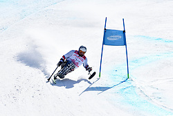 TABERLET Yohann LW12-1 FRA competing in ParaSkiAlpin, Para Alpine Skiing, Super G at PyeongChang2018 Winter Paralympic Games, South Korea.