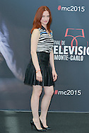 Odile Vuillemin poses at a photocall for the TV series 'Profilage' during the 55th Monte Carlo TV Festival on June 13, 2015 in Monte-Carlo, Monaco