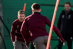 LIVERPOOL, ENGLAND - Monday, February 18, 2019: Liverpool's Alberto Moreno during a training session at Melwood ahead of the UEFA Champions League Round of 16 1st Leg match between Liverpool FC and FC Bayern München. (Pic by Paul Greenwood/Propaganda)