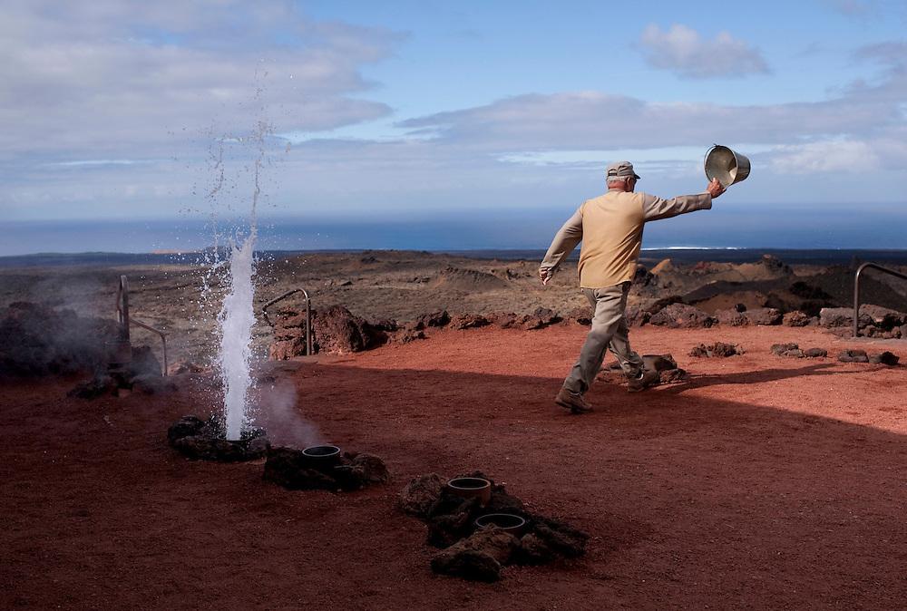 Parque nacional del Timanfaya. Isla de Lanzarote.