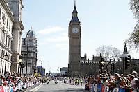 The Women's race passes Parliament Square and Big Ben<br /> The Virgin Money London Marathon 2014<br /> 13 April 2014<br /> Photo: Jed Leicester/Virgin Money London Marathon<br /> media@london-marathon.co.uk