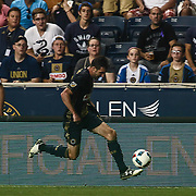 Philadelphia Union Attacker CHRIS PONTIUS (13) dribbles down the field in the second half of a Major League Soccer match between the Philadelphia Union and New York Red Bulls Sunday, July. 17, 2016 at Talen Energy Stadium in Chester, PA.