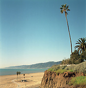 View of Santa Monica beach, California.  January 2005.