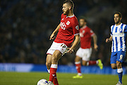 Bristol City defender Nathan Baker (17) during the Sky Bet Championship match between Brighton and Hove Albion and Bristol City at the American Express Community Stadium, Brighton and Hove, England on 20 October 2015.