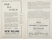 All Ireland Senior Hurling Championship Final,.Brochures,.04.09.1949, 09.04.1949, 4th September 1949, .Tipperary 3-11, Laois 0-3, .Minor Kilkenny v Tipperary, .Senior Tipperary v Laois, .Croke Park, ..Advertisements, New Ireland Assurance Company Ltd, Irish Industries Ltd, ..Articles, The Referees, The Art of Hurling,