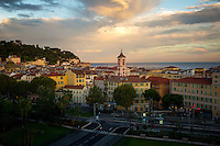Sunset view of Vieux Nice.
