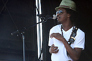 K'naan performs at The 2009 Rock the Bells Concert presented by Guerilla Union in association with Budweiser and held at Jones Beach July 19, 2009 in Babylon, NY..Few events can claim to both capture and define a movement, yet this is precisely what Rock The Bells has done since its inception in 2003. Rock The Bells is more than a music festival. It has become a genuine rite of passage for thousands of core, social, conscious, and independent Hip Hop enthusiasts, and Hip Hop Heads Globally. ..Rock The Bells is the ultimate Hip Hop platform and premiere music experience in America. Rock The Bells has established a forum of unparalleled diversity and excellence by uniting the biggest names involved with urban culture.