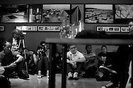 Participantes del seminario dictado por el fotografo de la Agencia Magnum, Rene Burri durante su visita en Caracas, Venezuela. 04-08-08 (ivan gonzalez)