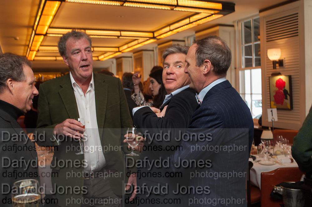 VISCOUNT LINLEY; JEREMY CLARKSON; HUGO DE FERRANTI; A.A. GILL, Vanity Fair Lunch hosted by Graydon Carter. 34 Grosvenor Sq. London. 14 May 2013