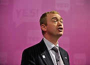 licensed to London News Pictures. LONDON UK. 27/04/11. Tim Fallon. A News conference held today (27 April 2011) in Church House, London. The conference was introduced by Katie Ghose with Lib Dem President Tim Farron, Green Party Leader Caroline Lucas, UKIP leader Nigel Farage and  Labour's  Alan Johnson, supporting a Yes for the Alternative Vote. Photo credit should read Stephen Simpson/LNP