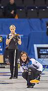 "Glasgow. SCOTLAND.  Women's Semi Final"" Game. Le Gruyère European Curling Championships. 2016 Venue, Braehead  Scotland.<br /> <br /> Friday  25/11/2016<br /> <br /> [Mandatory Credit; Peter Spurrier/Intersport-images]"