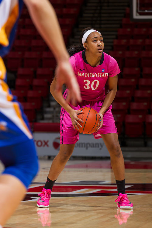 20 February 2016: The San Diego State lady Aztecs basketball team took on San Jose State  Saturday afternoon and won 87-70 at Viejas Arena.