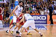 DESCRIZIONE : Trieste Nazionale Italia Uomini Torneo internazionale Italia Serbia Italy Serbia<br /> GIOCATORE : Riccardo Cervi Pietro Aradori<br /> CATEGORIA : Palleggio Blocco Controcampo<br /> SQUADRA : Italia Italy<br /> EVENTO : Torneo Internazionale Trieste<br /> GARA : Italia Serbia Italy Serbia<br /> DATA : 05/08/2014<br /> SPORT : Pallacanestro<br /> AUTORE : Agenzia Ciamillo-Castoria/GiulioCiamillo<br /> Galleria : FIP Nazionali 2014<br /> Fotonotizia : Trieste Nazionale Italia Uomini Torneo internazionale Italia Serbia Italy Serbia