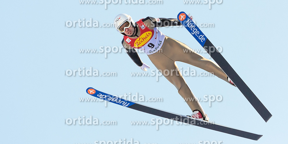 30.01.2016, Casino Arena, Seefeld, AUT, FIS Weltcup Nordische Kombination, Seefeld Triple, Skisprung, Probedurchgang, im Bild Lukas Klapfer (AUT) // Lukas Klapfer of Austria competes during his Trial Jump of Skijumping of the FIS Nordic Combined World Cup Seefeld Triple at the Casino Arena in Seefeld, Austria on 2016/01/30. EXPA Pictures © 2016, PhotoCredit: EXPA/ JFK