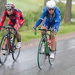 03-09-2015: Wielrennen: Ladiestour: Tiel <br /> TIEL (NED) wielrennen<br /> De derde etappe was rond Tiel en ging door de Betuwe. Lange aanval die leidde naar de winst  voor de Amerikaanse Lauren Hall en de leiderstrui voor Marthsa Bastianelli