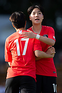 SYDNEY, NSW - FEBRUARY 28: Korean player Hwayeon Son (17) celebrates her goal at The Cup of Nations womens soccer match between Argentina and Korea Republic on February 28, 2019 at Leichhardt Oval, NSW. (Photo by Speed Media/Icon Sportswire)