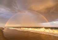 Rainbow over the Atlantic, Cupsogue Beach County Park, Westhampton, NY