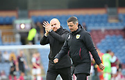 Sean Dyche Manager of Burnley greets the fans at the end of the match during the The FA Cup match between Burnley and Peterborough United at Turf Moor, Burnley, England on 4 January 2020.