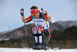 Canada's Derek Zaplotinsky competes in the Men's 7.5km, Sitting Cross Country Skiing, at the Alpensia Biathlon Centre during day eight of the PyeongChang 2018 Winter Paralympics in South Korea
