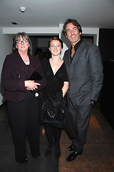 Left to right, MRS HILARY JEFFERIES, her grandaughter MILLY McILVENNY and MR TIM JEFFERIES at a private view of Octagan a showcase of work of photographer Kevin Lynch featuring the stars of the Ultimate Fighter Championship held at Hamiltons gallery, Mayfair, London on 17th January 2008.<br />