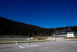 Hotel Center at Pokljuka on October 17, 2011, in Rudno polje, Pokljuka, Slovenia. (Photo by Vid Ponikvar / Sportida)