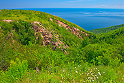 Appalachain Mountains chain. Cape Breton Island. Cabot Trail. <br />