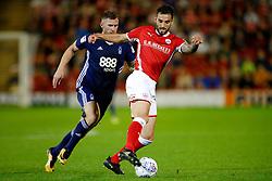 Barnsley's Adam Jackson is chased by Nottingham Forest's Daryl Murphy - Mandatory by-line: Matt McNulty/JMP - 15/08/2017 - FOOTBALL - Oakwell Stadium - Barnsley, England - Barnsley v Nottingham Forest - SkyBet Championship