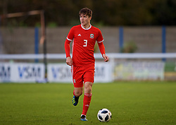 BANGOR, WALES - Monday, October 15, 2018: Wales' Morgan Boyes during the UEFA Under-19 International Friendly match between Wales and Poland at the VSM Bangor Stadium. (Pic by Paul Greenwood/Propaganda)