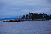 Ivory Island Lighthouse near Bella Bella, British Columbia, Canada