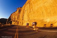 Road bicycling at the Colorado National Monument near Fruita, Colorado, USA