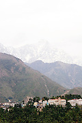 The Himalayas and view of Dharamsala, India.NOT FOR COMMERCIAL USE UNLESS PRIOR AGREED WITH PHOTOGRAPHER. (Contact Christina Sjogren at email address : cs@christinasjogren.com )