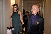 Daniela Barbosa de Carneiro ; Sir Ben Kingsley; , The London Critics' Circle Film Awards 2009 in aid of the NSNCC. Grosvenor House Hotel . Park Lane. London. 4 February 2009