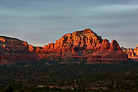Sunset Panorama Sedona, Arizona. Image 3 of 11 images taken with a Nikon 1 V2 camera and 32 mm f/1.2 lens (ISO 200, 32 mm, f/5.6, 1/40 sec). Raw images processed with Capture One Pro. Panorama generated using AutoPano Giga Pro.