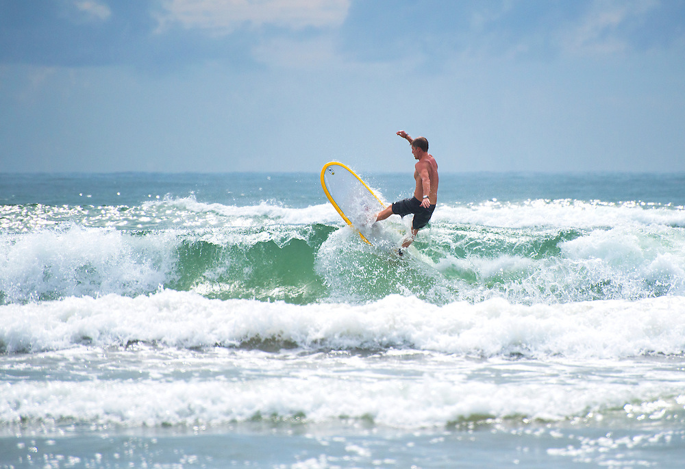 Surfer on Texas Coast