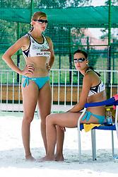 Ana Praprotnik and Mateja Kadis (Prekmourske rouzice) at Beachmaster 2010 tournament for Slovenian BeachTour on July 15, 2010, in Ptuj, Slovenia. (Photo by Matic Klansek Velej / Sportida)