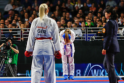 November 10, 2018 - Madrid, Madrid, Spain - Banaszczyk Dorota (POL) win the gold medal and win the tournament of Female Kumite -55 Kg during the Finals of Karate World Championship celebrates in Wizink Center, Madrid, Spain, on November 10th, 2018. (Credit Image: © AFP7 via ZUMA Wire)