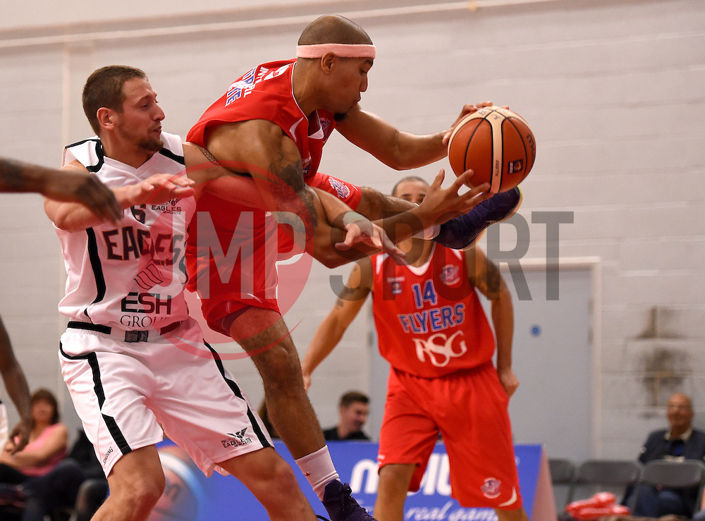Greg Streete of Bristol Flyers fights for the ball  - Photo mandatory by-line: Joe Meredith/JMP - Mobile: 07966 386802 - 10/10/2015 - BASKETBALL - SGS Wise Arena - Bristol, England - Bristol Flyers v Newcastle Eagles - British Basketball League