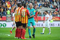 Bartolomeu VARELA - 26.04.2015 - Lens / Monaco - 34eme journee de Ligue 1<br /> Photo : Nolwenn Le Gouic / Icon Sport