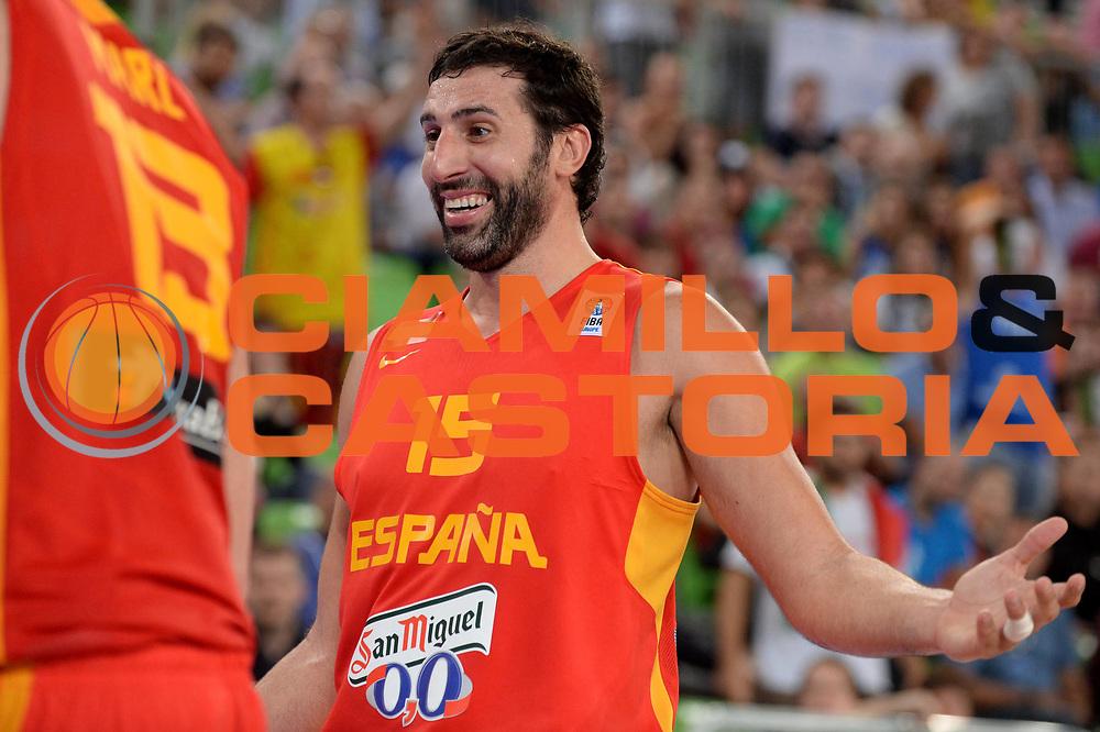 DESCRIZIONE : Lubiana Ljubliana Slovenia Eurobasket Men 2013 Second Round Italia Spagna Italy Spain<br /> GIOCATORE : Alex Mumbru<br /> CATEGORIA : Esultanza<br /> SQUADRA : Spagna Spain<br /> EVENTO : Eurobasket Men 2013<br /> GARA : Italia Spagna Italy Spain<br /> DATA : 16/09/2013 <br /> SPORT : Pallacanestro <br /> AUTORE : Agenzia Ciamillo-Castoria/Max.Ceretti<br /> Galleria : Eurobasket Men 2013<br /> Fotonotizia : Lubiana Ljubliana Slovenia Eurobasket Men 2013 Second Round Italia Spagna Italy Spain<br /> Predefinita :
