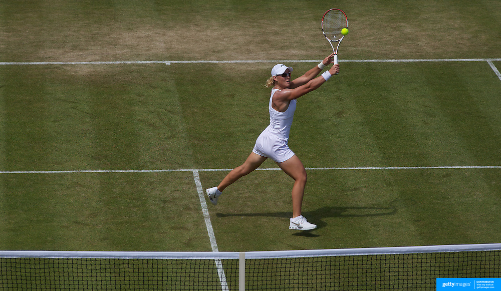 Sam Stosur, Australia in action during her win against Tatjana Malek, Germany, in the second round of the Ladies Singles competition at the All England Lawn Tennis Championships at Wimbledon, London, England on Thursday, June 25, 2009. Photo Tim Clayton.