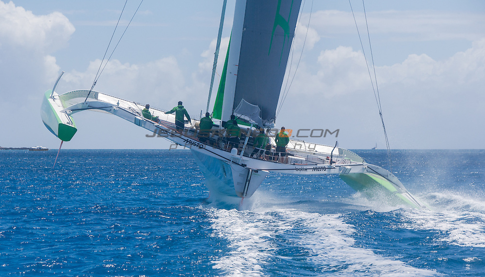MOD 70 Phaedo³   Saint Marteen, 8th March 2015 , Heineken Regatta,  around the Island race.
