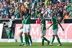 07.05.2011, Weserstadion, Bremen, GER, 1.FBL, Werder Bremen vs Borussia Dortmund, im Bild 2:0 Claudio Pizarro ( Werder #24 ) jubel    EXPA Pictures © 2011, PhotoCredit: EXPA/ nph/  Kokenge       ****** out of GER / SWE / CRO  / BEL ******
