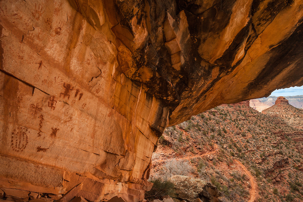 Native American pictographs in Grand Canyon National Park.