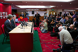 LIVERPOOL, ENGLAND - Thursday, July 1, 2010: Liverpool Football Club's new manager Roy Hodgson and Chairman Martin Broughton during a press conference at Anfield. (Pic by David Tickle/Propaganda)