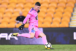 January 18, 2018 - Brisbane, QUEENSLAND, AUSTRALIA - Liam Reddy of the Glory (#33) kicks the ball during the round seventeen Hyundai A-League match between the Brisbane Roar and the Perth Glory at Suncorp Stadium on January 18, 2018 in Brisbane, Australia. (Credit Image: © Albert Perez via ZUMA Wire)